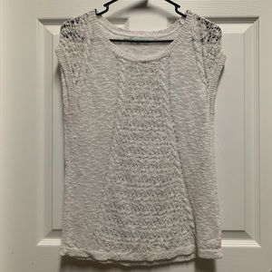 Maurices White Knit Top S